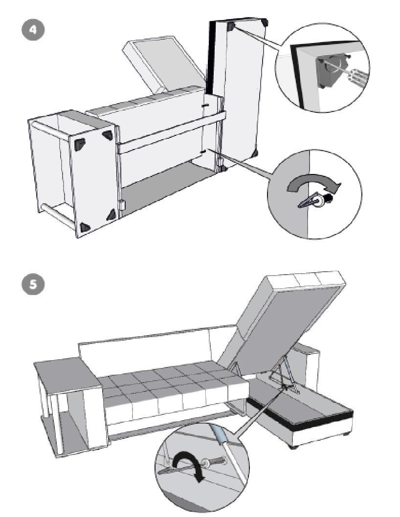 инструкция по сборке углового дивана атлант