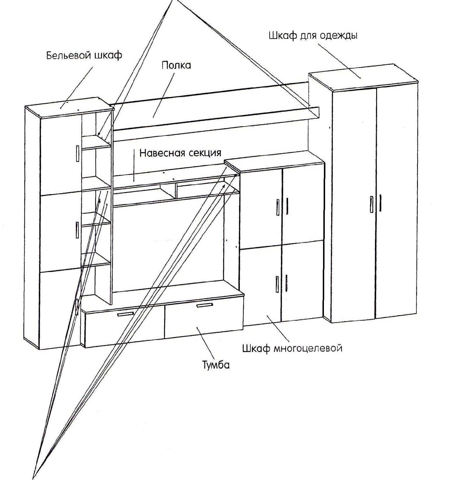 схема сборки стенки Мальта - шаг №1
